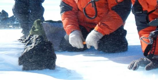 Meteorite in Antartide